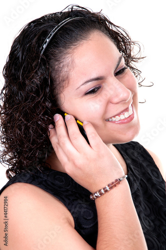 Latina teen talking on the phone