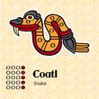 Aztec calendar symbols - Coatl or snake (5)