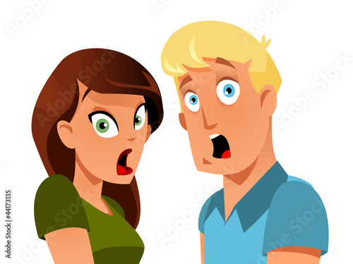 Shocked couple