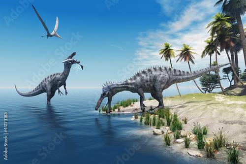 Fototapeten,dinosaurier,gigantisch,reprsentationsbau,eidechse