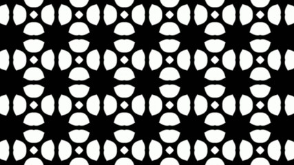 kaleidoscope b&w graphic pattern loop