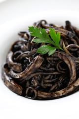 squid ink pasta, black pasta