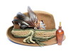 old hunting hat and game call