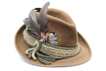 traditional decorated hunting hat