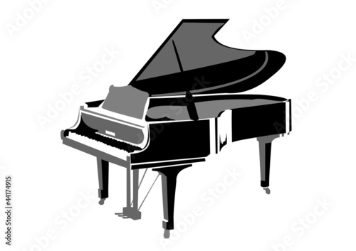 Realistic grand piano picture