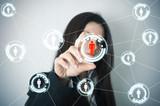 Social network on futuristic screen