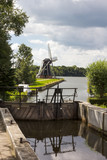 Lock gates and Dutch windmill