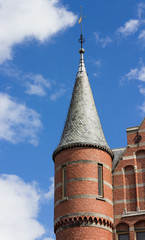 Turret on neo gothic building