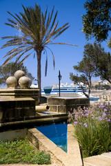 Brunnen in Valletta, Malta