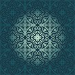 vector pattern with floral and geometrical ornament