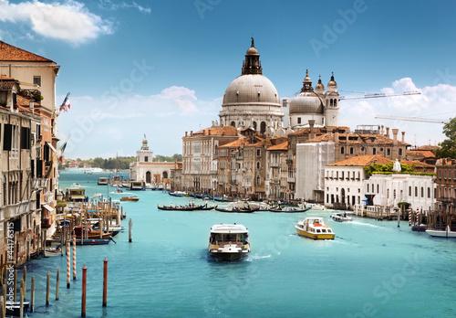 Plexiglas Venetie Grand Canal and Basilica Santa Maria della Salute, Venice, Italy