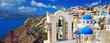 beautiful Santorini panoramic view of Oia town