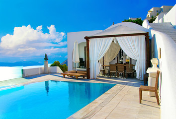 Santorini - luxury summer  holidays