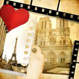 romantic retro photoalbum - Paris