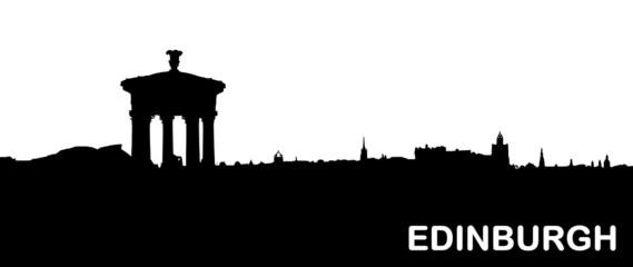 Silhouette von Edinburgh