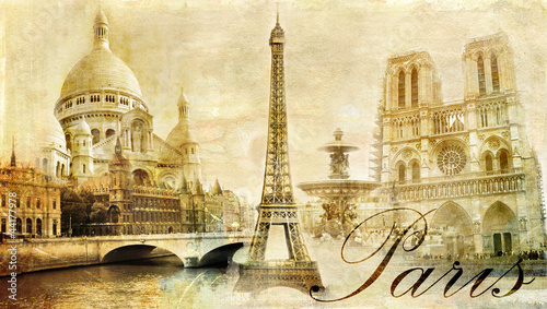 beautiful Paris - vintage post card