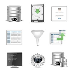 database vector icon set