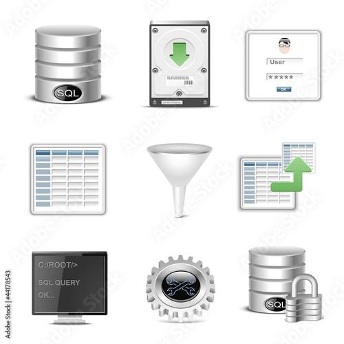 database vector icon set