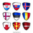 europe flag shields set 3/3