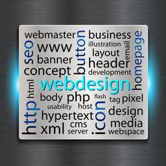 webdesign vector concept, metallic looking