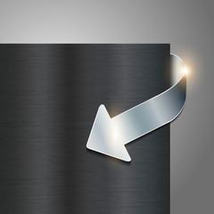 metallic web shop button