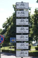 Scieżka rowerowa - drogowskaz