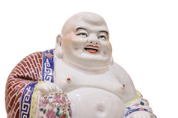 Ho Tai Happy Buddha Porcelain Figure Closeup