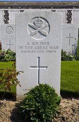 Grave of a Soldier of the Great War in Tyne Cot Cemetery