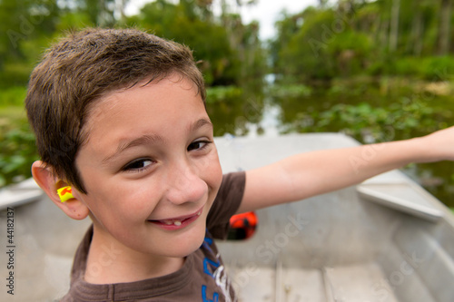 Boy in the everglades.