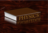 Physics Book with knowledge reflecting poster