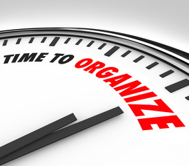 Time to Organize Clock Now is Moment to Coordinate Order