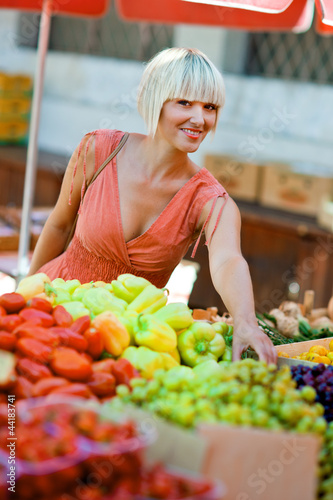 woman on market place