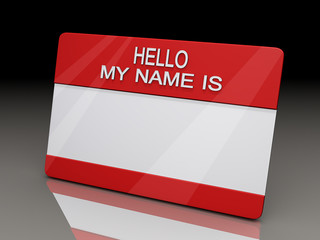 Hello My Name is Sticker BG