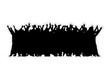 Menschenmenge silhouette