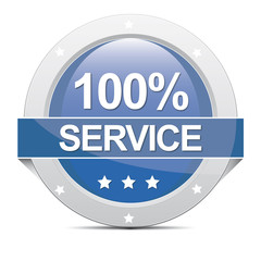 100% Service Banner