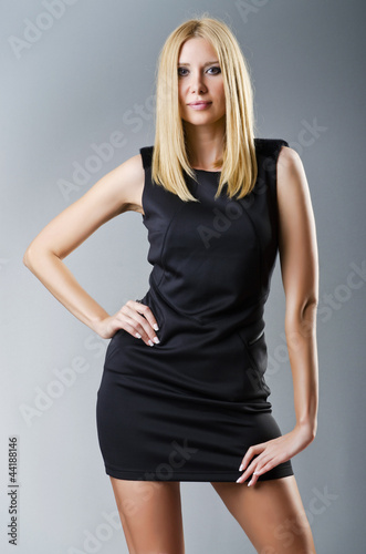 Attractive model in studio fashion shooting