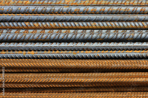 Metal Texture Pattern of Rusty Rebars