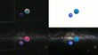 Solar system with milky way galaxy in screens