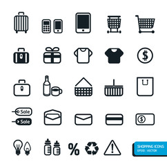 Shopping icons set. Vector design.