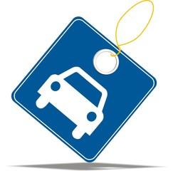 étiquette voiture