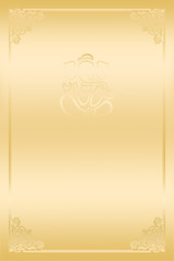 Golden Hindu Wedding Card