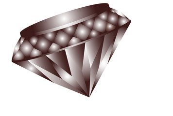 Darker colored distinctive diamond sparkles in the light