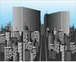 Office buildings in huge city