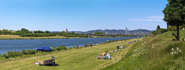 The Donauinsel (Danube Island) at the danube