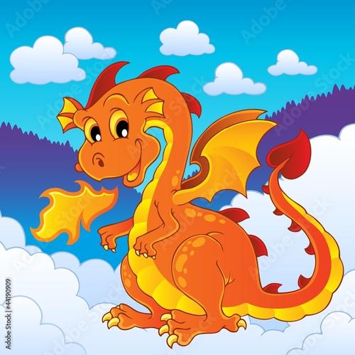 Foto op Aluminium Kasteel Dragon theme image 8