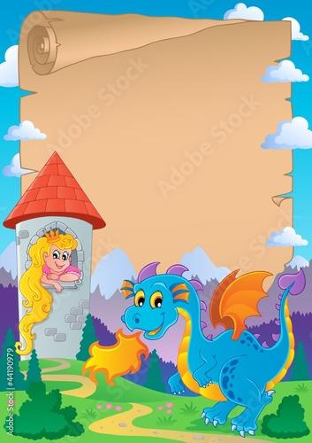 Poster Pony Fairy tale theme parchment 2