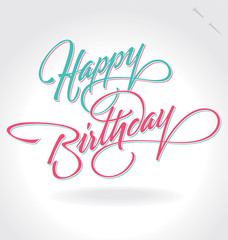 'happy birthday' hand lettering (vector)