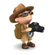 3d Explorer with his SLR camera
