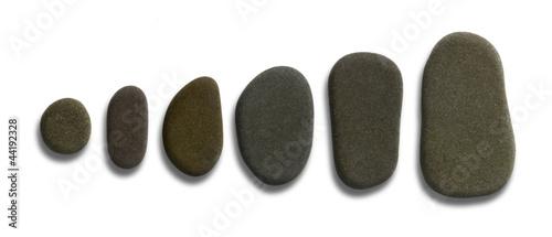 sorted flat pebbles
