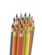 Buntstifte gebündelt mit Textfreiraum